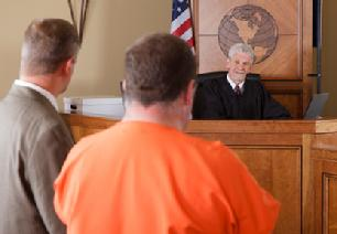 Criminal defendant being sentenced